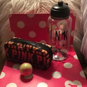 """VS """"'pink"""" thermos & make up bag/free bath fizzy"""